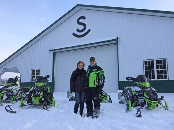 Riding with Arctic Cat's Roger Skime.