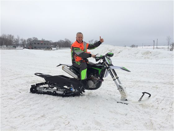 ADVing the heck out of the Arctic Cat SVX 450 snow bike, like only an ArcticInsider can do.