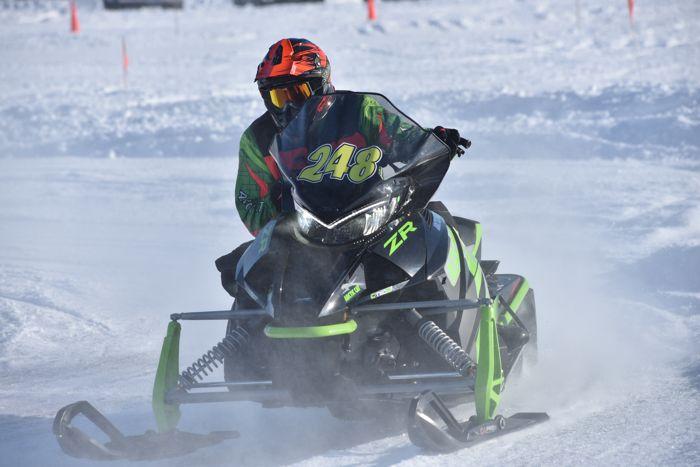 Team Arctic's Jordan Bute wins at Pine Lake.