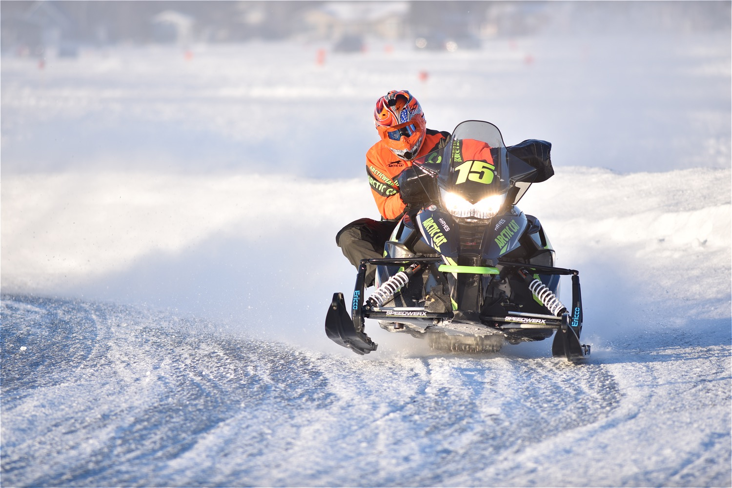 Team Arctic's Wes Selby won Pro Open and took 4th in Pro Stock at Pine Lake.