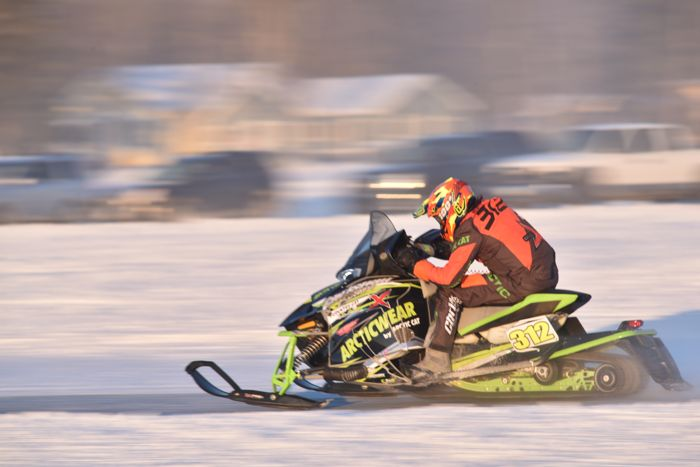 Team Arctic's Zach Herfindahl wins Pro Stock at Pine Lake.