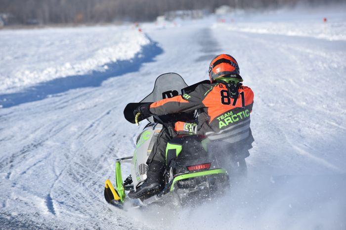 Team Arctic Cat's David Brown wins Semi Pro at Pine Lake.