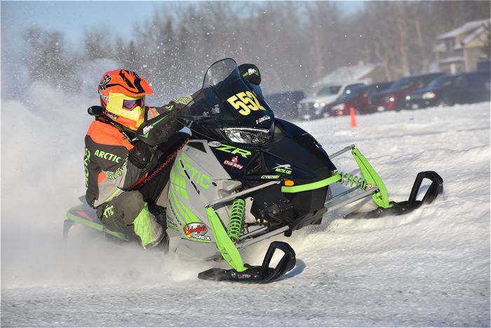 Matt Feil finishes sixth in Pro Factory 600 at Pine Lake.