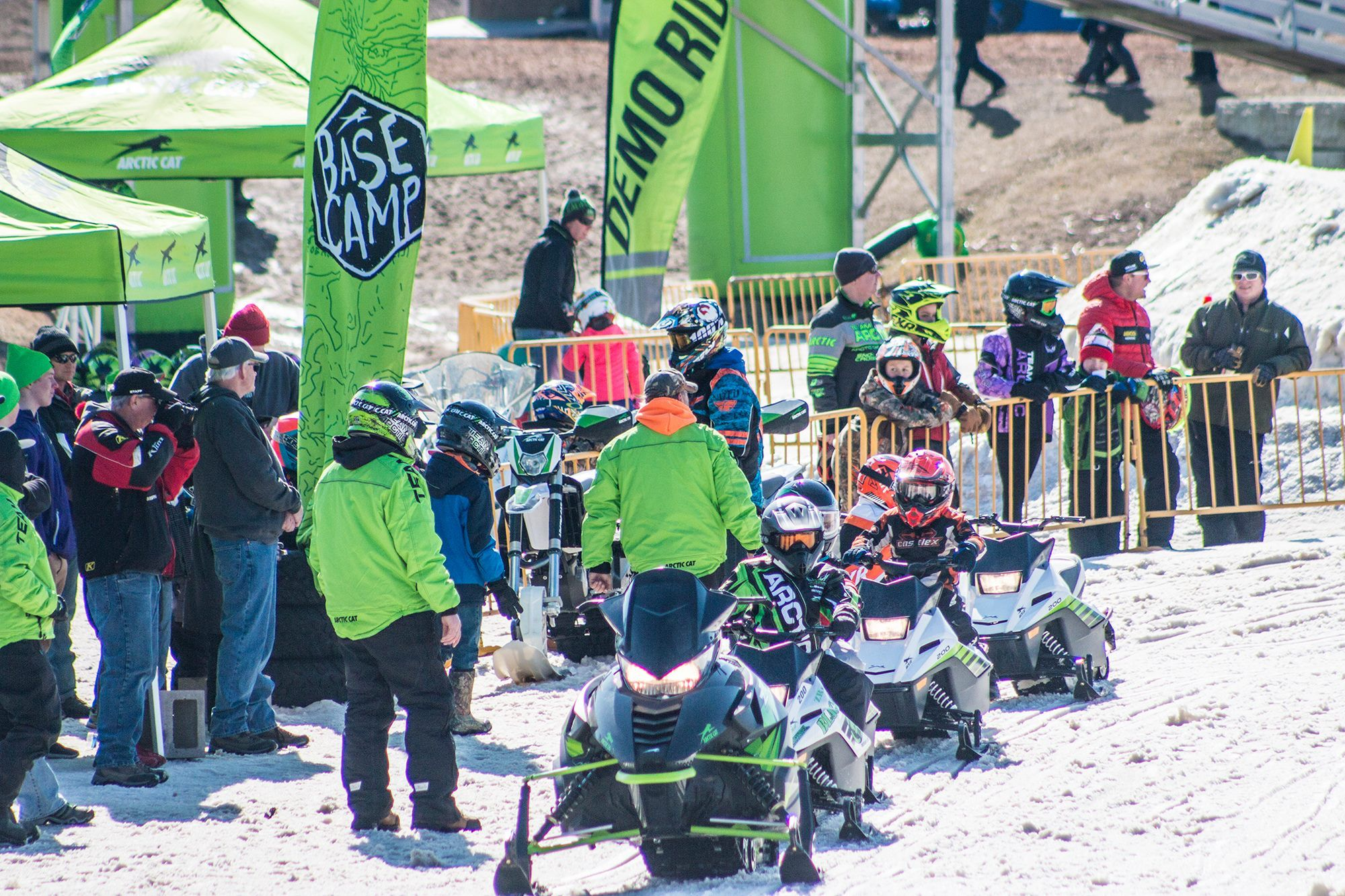 ERX Demo Day on Arctic Cat snowmobiles