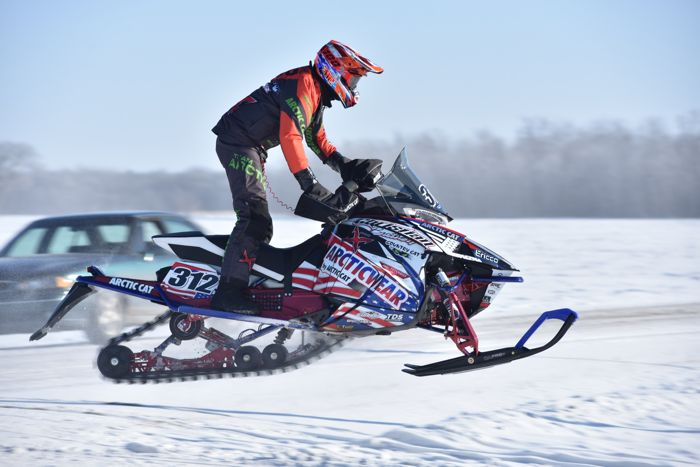 Team Arctic Cat's Zach Herfindahl at the USXC I-500. Photo by ArcticInsider.com