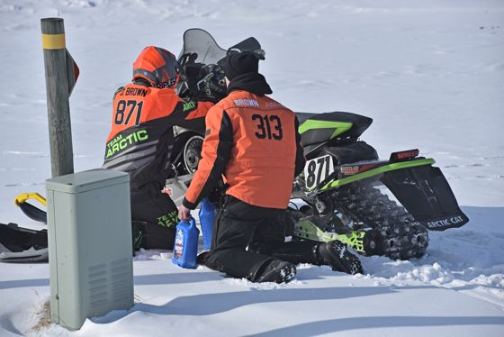 Team Arctic Cat's David Brown wins Semi Pro at Pine Lake.
