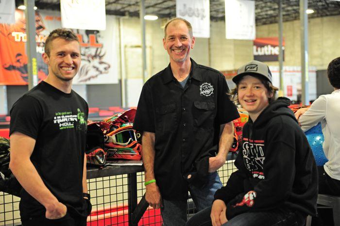 Logan Christian, Aaron Scheele and Anson Scheele.