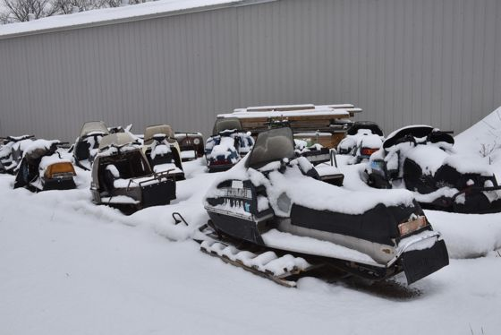 Les Pinz vintage snowmobile collection. Arctic Cat Polaris Scorpion. Photo by ArcticInsider.com