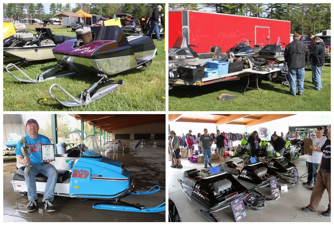 Snowmobile Hall of Fame Classic Sled Round Up. Photo by Bourgeois.
