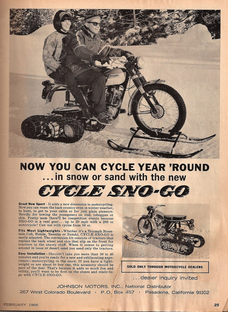 Vintage snowbike conversion kits are another reason to be thankful on Fridays.