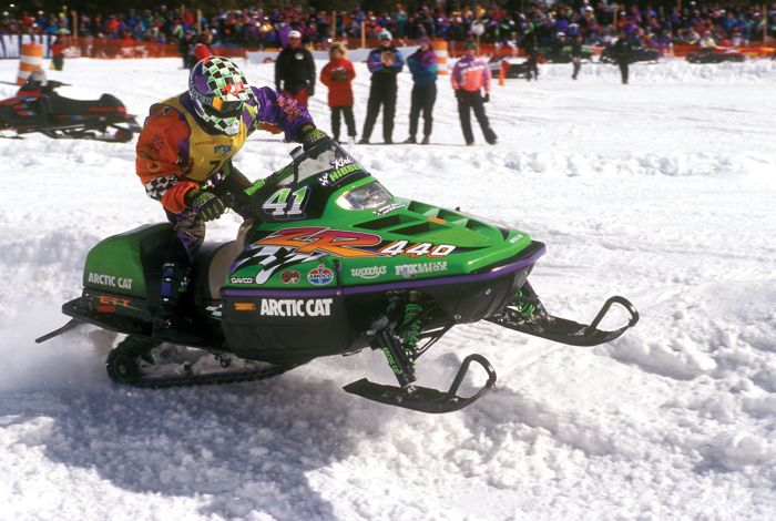 Tucker Hibbert's first-ever snocross race. He won. On his dad's Arctic Cat ZR. Photo by Arcticinsider.com