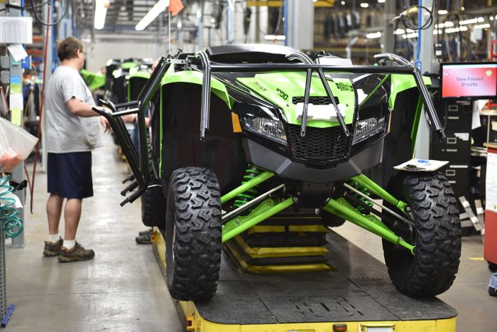 2018 Wildcat XX on the assembly line in Thief River Falls. Photo by ArcticInsider.com