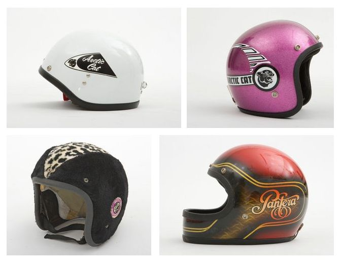 Sweet Arctic Cat vintage helmets from the Ische Family collection.
