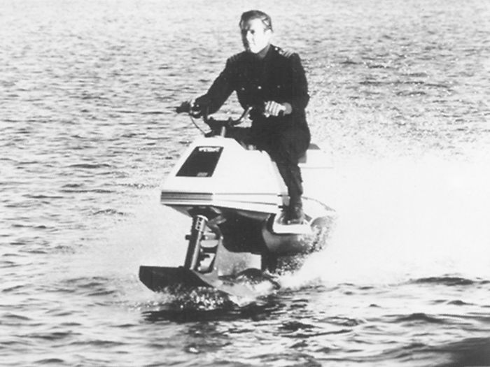 Roger Moore, aka James Bond, rode an Arctic Cat Wet Bike in The Spy Who Loved Me.