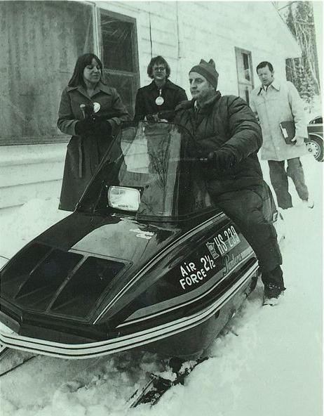 U.S. Vice President Walter Mondale on an Arctic Cat Pantera.