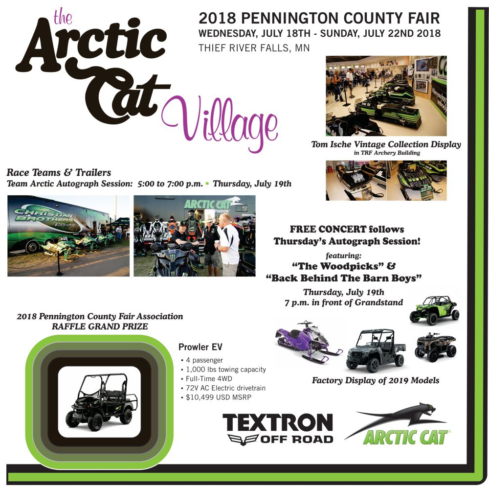 Arctic Cat village at the Pennington County Fair 2018