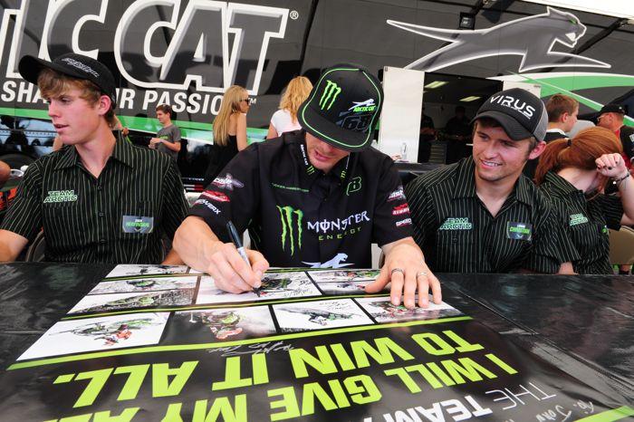 Logan Christian, Tucker Hibbert and Zach Herfindahl, the autograph triplets.