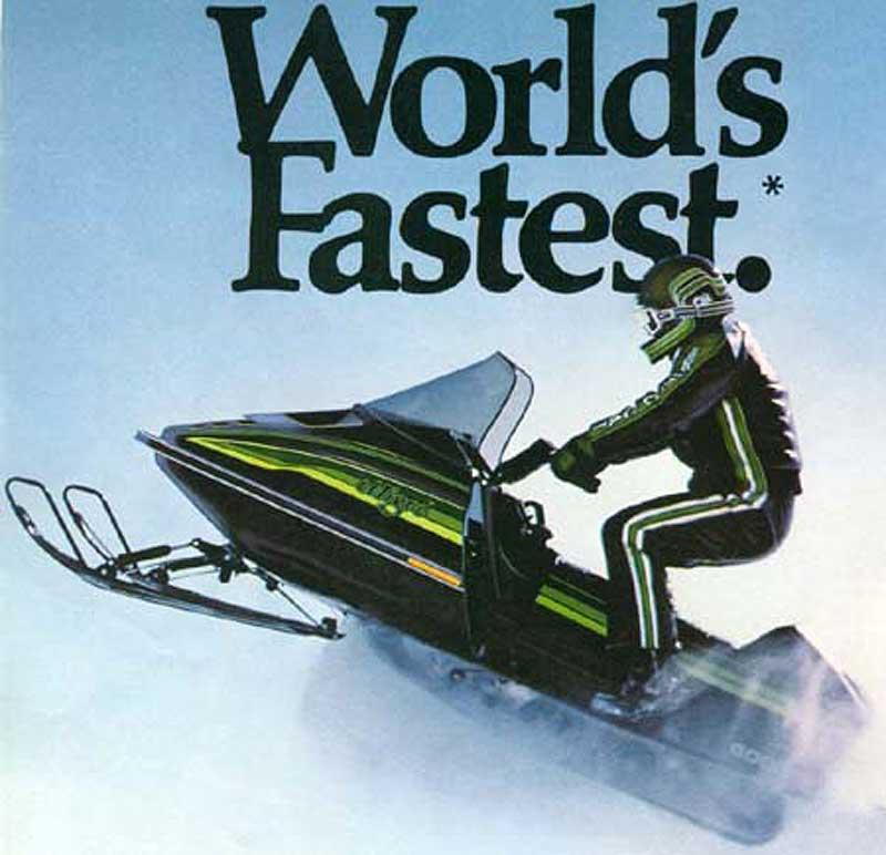 Arctic Cat El Tigre, worlds fastest snowmobile.