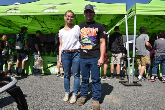 2018 Hay Days. Arctic Cat, snowmobiles and people.