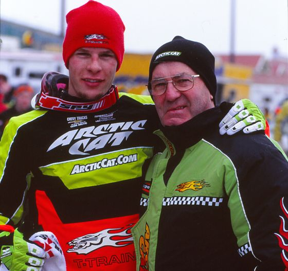 Tucker Hibbert and Roger Skime, circa 2002. Photo by ArcticInsider.com