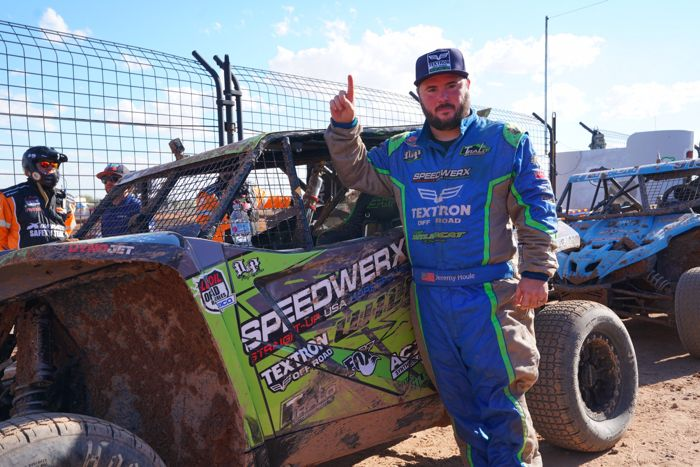 Jeremy Houle wins Lucas Off Road on Speedwerx Wildcat XX.