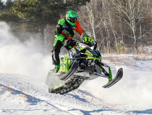 Team Arctic Cat's Zach Herfindahl wins the 2019 Heartland 200.  Photo by Wicklund