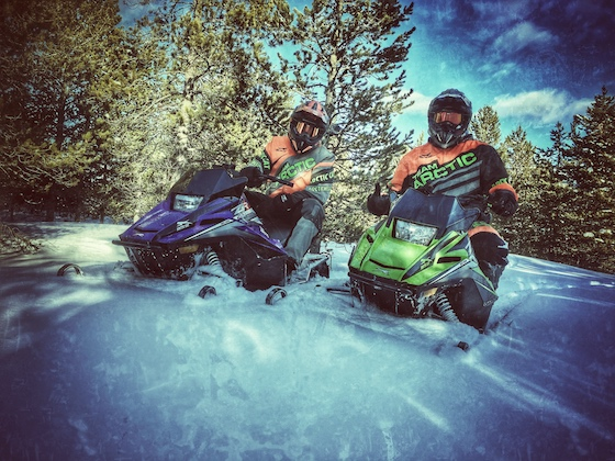 John and Kale ZR200 Ride in West Yellowstone