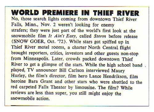 World Premiere In TRF