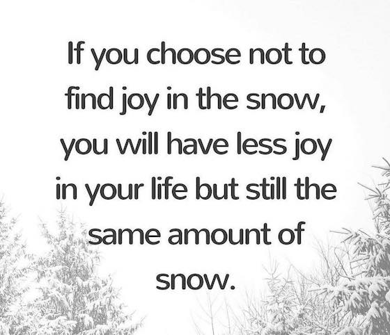 Truth! Let it Snow!