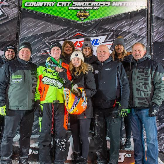 Christian Brothers Racing Team on podium with Pro Lite #64 Andy Pake