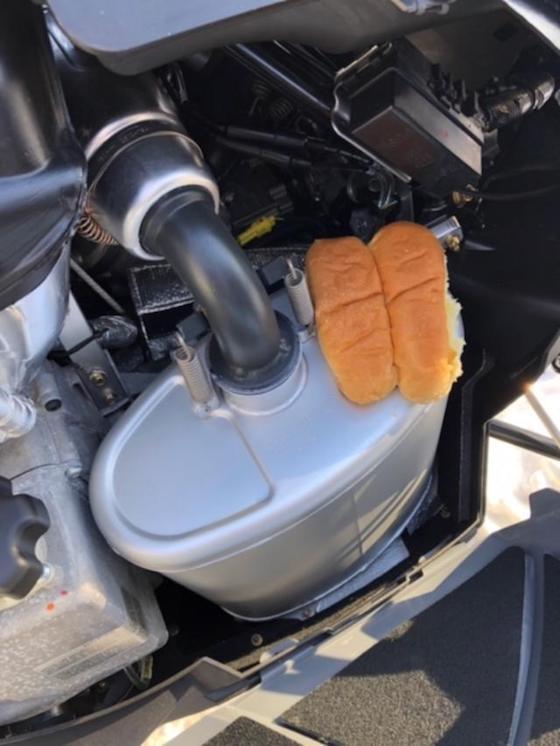 Muffpot, Hotdogger, Pffffft. Brand new muffler works perfect for warming buns