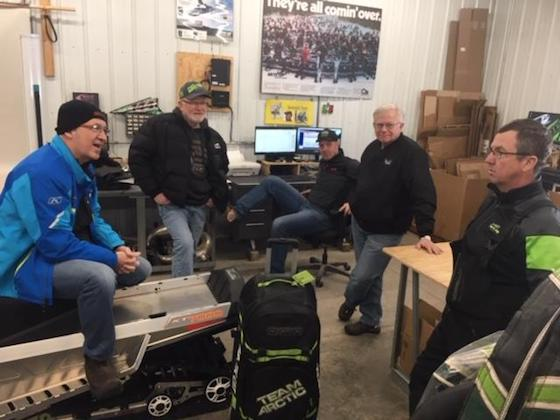The TSS shop was full of talent and halotta BS. (L-R) Pat Bourgeois, Paul Hein, Eric Bergstrom, John Anderson and Tom Rowland
