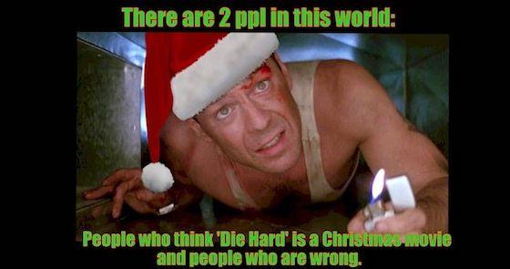 Die Hard is a Christmas movie!