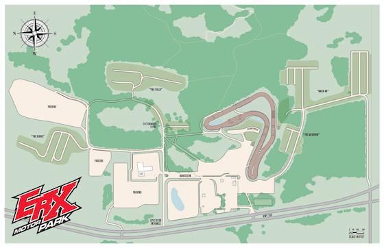 Map of ERX Motorpark in Elk River, MN