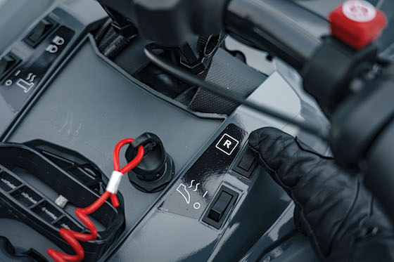 The Blast controls are moved from the handlebar controls down to the center console, are simple and work extremely well