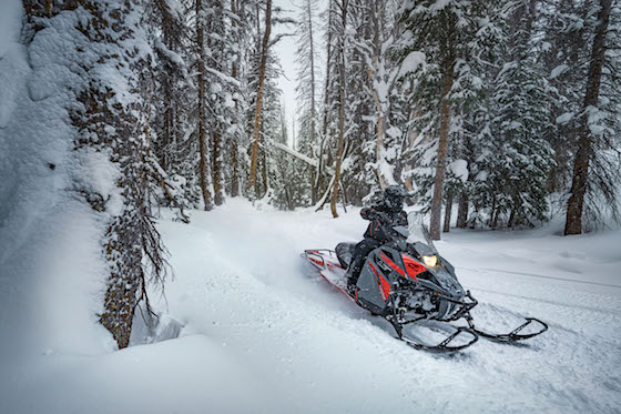 """The Blast LT with 146 Xtra Action rear skid frame and 1.6"""" Cobra track can rally the trail, but also navigate light utility work and adventure riding off trail with ease."""