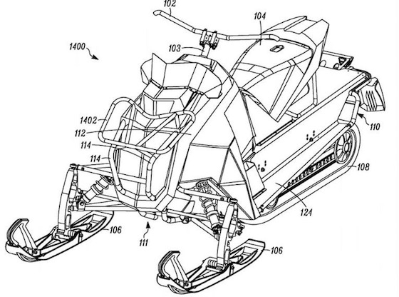 Some enthusiasts on the internet wondered what Arctic Cat was up to when stumbling upon this patent drawing which also included drawings of a single-cylinder engine.