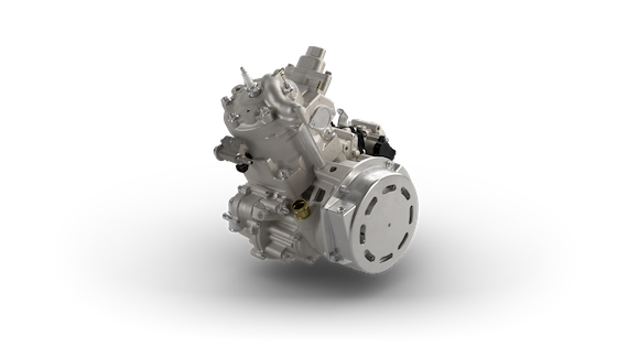 The 65hp Class 397cc single cylinder CTEC2 with EFI, Electric Start and Engine Reverse