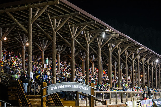 The crowd at Deadwood, SD Photo Lissa Marsolek