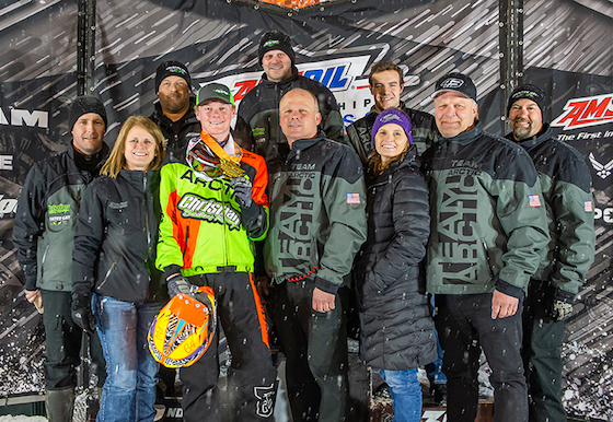 The Christian Brothers Racing team enjoyed Andy Pakes first Pro Lite win in Iowa