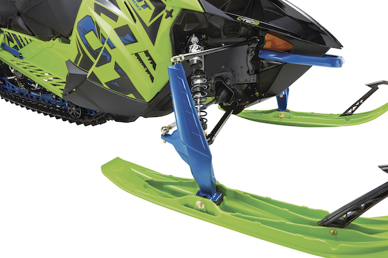 Want better cornering out of a RIOT? Tighten up the limiter strap on the front of the Cross-Action Skidframe