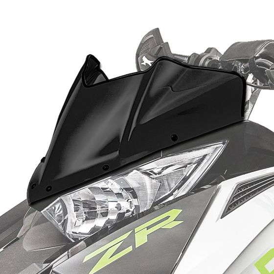 The RIOT X is getting a windshield. The one-inch mountain shield isn't quite cutting it in the Midwest.