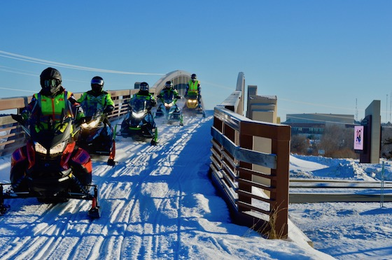 MnUSA attracted hundreds of snowmobilers across MN to Bemidji, MN for Winter Rendezvous
