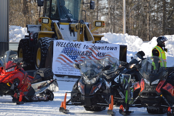 MnUSA riders stopped in nearby Leonard and were welcomed by local businesses
