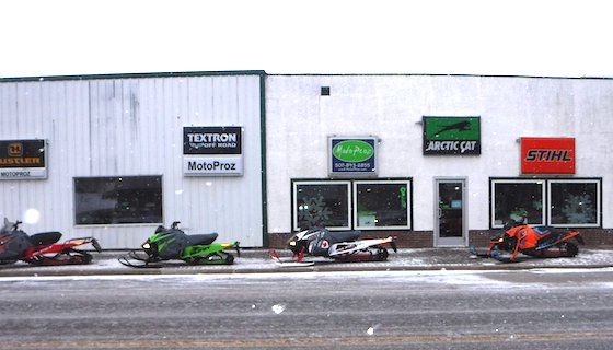An outside view of MotoProz dealership in Mazeppa, MN who recently had 2021 Blast(s) and Riot X on display