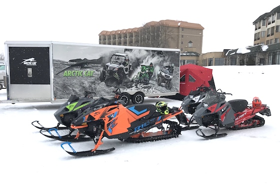 Arctic Cat Sales Rep, Tom Schaefer, attended and provided attendees the opportunity to ride a selection of new 2021 models including the Blast(s) and Riot