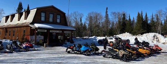 The Trestle Inn located in Finland, MN is home to snowmobilers from all over and amazing hamburgers!