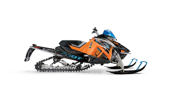 2021 Riot 146 in Woody's Orange/Skye Blue is the perfect 50/50 Crossover in Arctic Cat's line