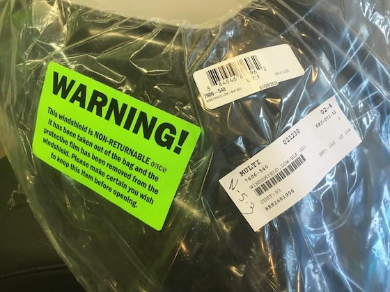 Warning! This item is wearing protection.