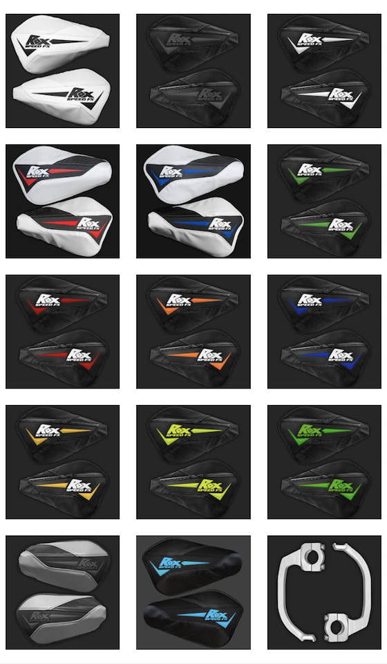 Flex-Tec handguards come in a choice of 14 colors or design your own color scheme with 2,100 different options